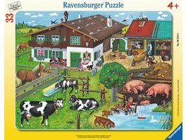Ravensburger Puzzle Rahmenpuzzle Tierfamilien 33 Teile