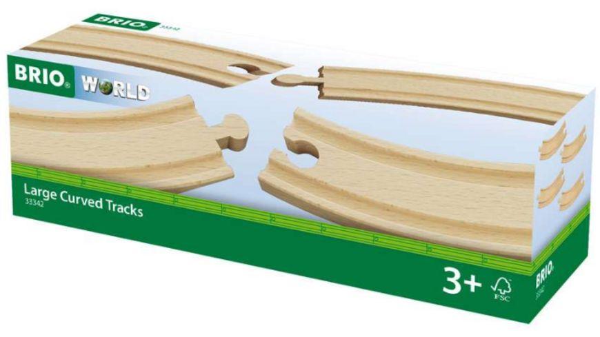 BRIO Bahn - 1/1 Gebogene Gleise, 4 Stück
