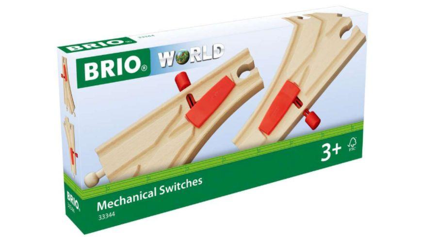 BRIO Bahn - Mechanisches Weichenpaar