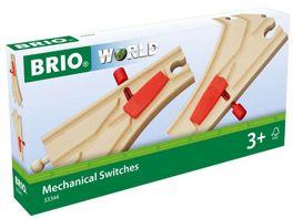BRIO Bahn Mechanisches Weichenpaar