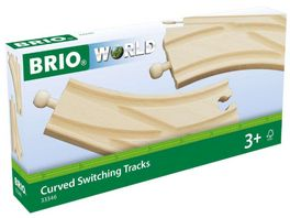 BRIO Bahn Bogenweichen 2 Stueck
