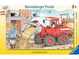 Ravensburger Puzzle Rahmenpuzzle Mein Bagger 15 Teile