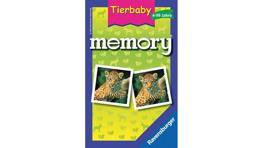 Ravensburger Spiel Mitbringspiel Tierbaby memory
