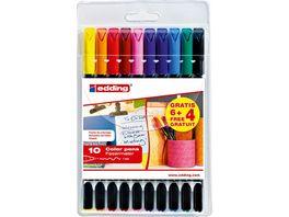 edding Fasermaler Color Pens 10er Sonderpack