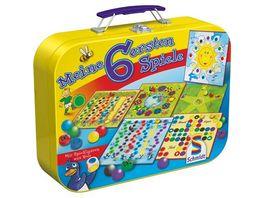 Schmidt Spiele Kinderspiele Meine 6 ersten Spiele im Metallkoffer