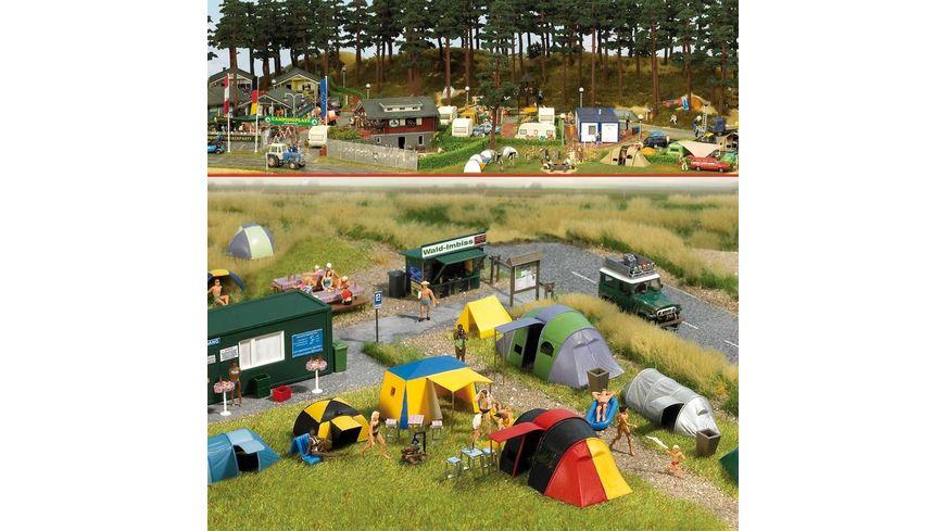 Busch 6044 Modellbahnzubehoer Camping Platz