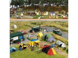 Busch Modellbahnzubehoer Camping Platz