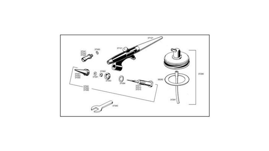 Revell 39101 Airbrush Spritzpistole standard class