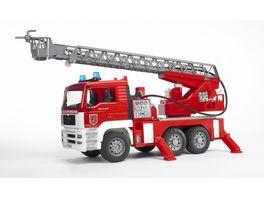 BRUDER MAN TGA Feuerwehr m Drehleiter Wasserpumpe Light Sound Modul 02771