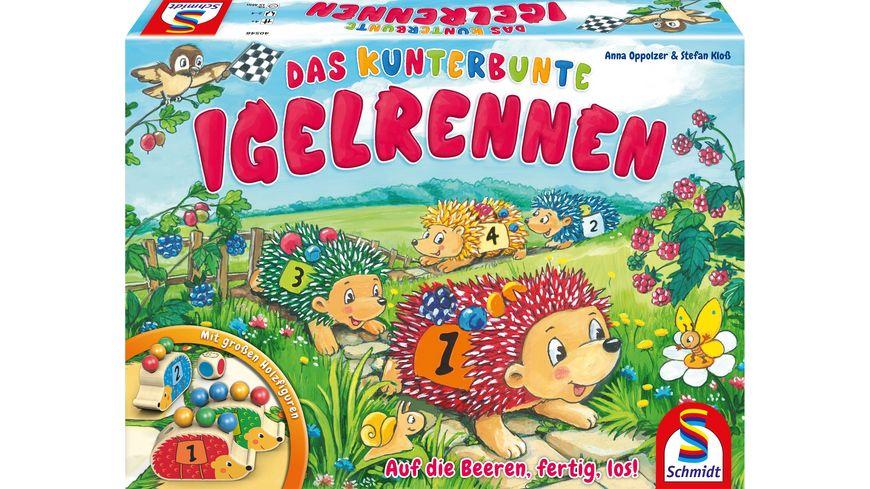 Schmidt Spiele Kinderspiele Das kunterbunte Igelrennen