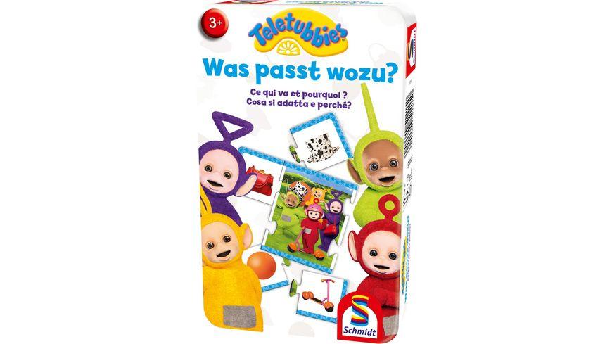 Schmidt Spiele Reisespiele Was passt wozu Teletubbies