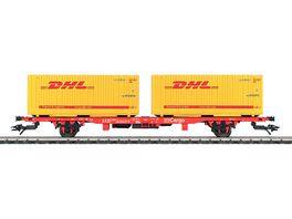 Maerklin 47705 H0 Containerwagen mit 2 Containern DHL DB
