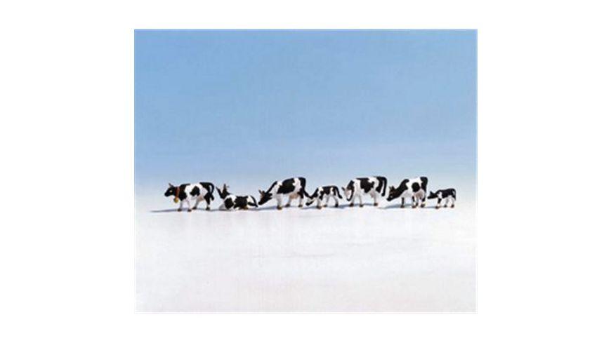 NOCH 15721 H0, FIGUREN - Kühe, schwarz-weiß