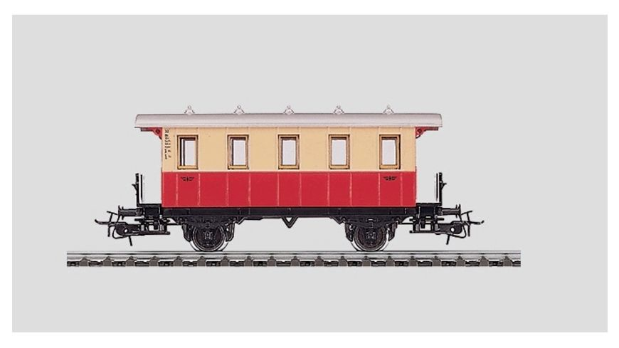 Maerklin 4107 Start up Personenwagen 2 achsig rot beige