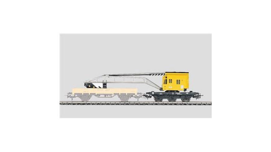 Maerklin 4671 Start up Kranwagen 3 achsig gelb schwarz