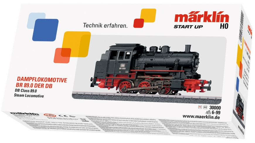 Maerklin 30000 Start up H0 Tenderlokomotive BR 89 DB mit Delta Elektronik