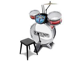 Bontempi Schlagzeug mit Modul 5 teilig rot silber
