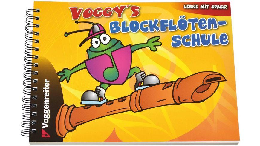 Voggys Blockfloeten Set barocke Griffweise fuer Kinder ab 6 Jahren