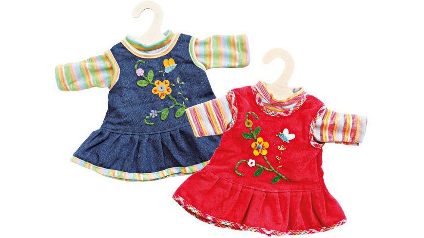 Heless Peppiges Kleid mit T Shirt Gr 35 45 cm sortiert
