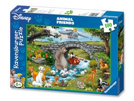 Ravensburger Puzzle Die Familie der Animal Friends 100 XXL Teile