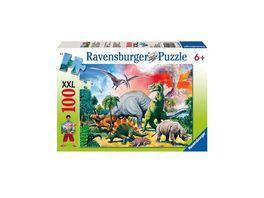 Ravensburger Puzzle Unter Dinosauriern 100 Teile