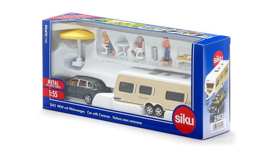 SIKU 2542 Super PKW mit Wohnwagen
