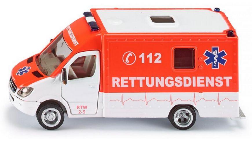 siku Rettungsdienst-Set Spielzeugauto Helikopter Krankenwagen Spielwaren Spielzeugautos