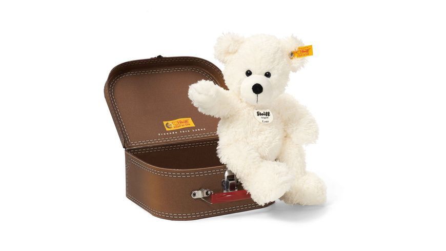 Steiff Kuschelige Teddybaeren Lotte Teddybaer 28 cm weiss im Koffer