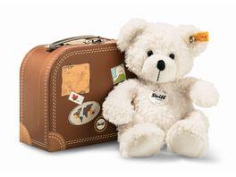 Steiff Teddybaeren Teddybaeren fuer Kinder Lotte Teddybaer im Koffer weiss 28cm