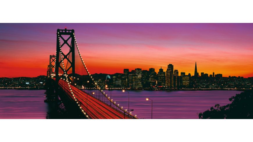 Ravensburger Panorama Puzzle San Francisco Oakland Bay Bridge bei Nacht 1000 Teile