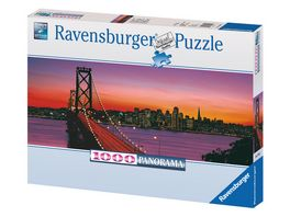 Ravensburger Puzzle Panorama San Francisco Oakland Bay Bridge bei Nacht 1000 Teile