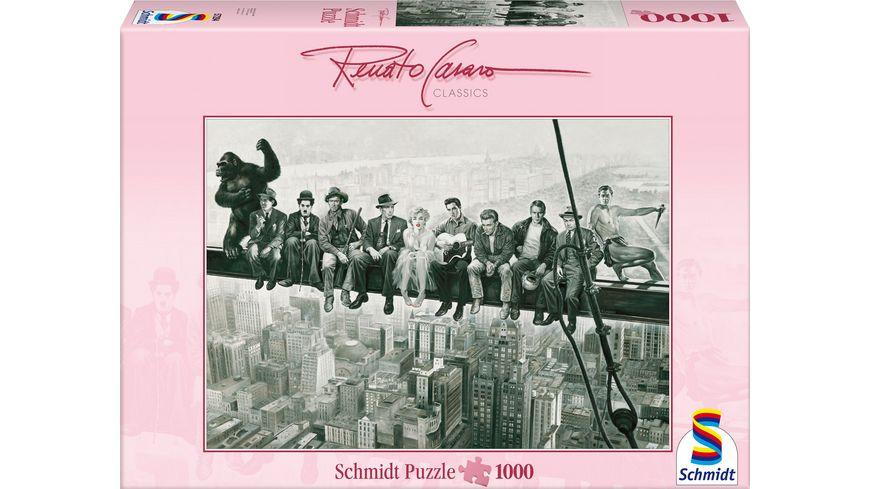 Schmidt Spiele Erwachsenenpuzzle Panorama Renato Casaro Drehpause 1000 Teile