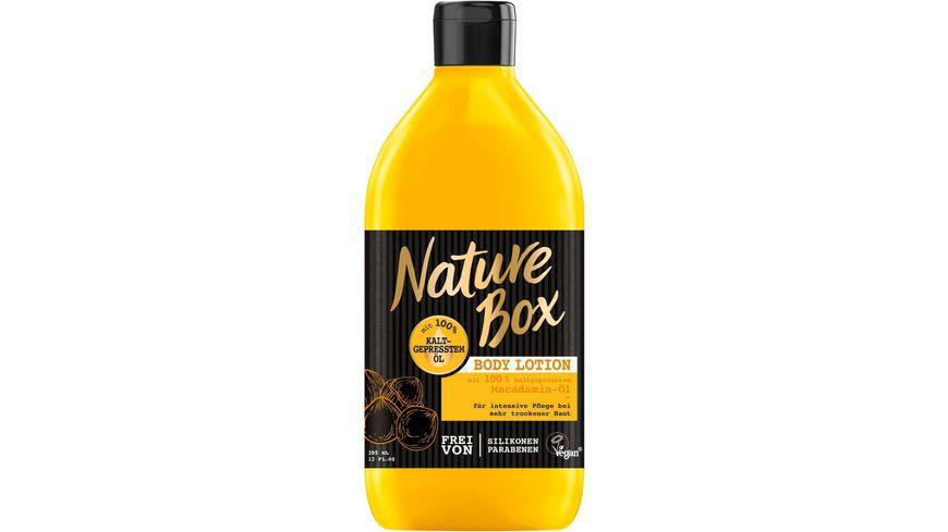 Nature Box Body Lotion Macadamia Oel