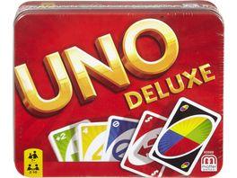Mattel Games UNO Deluxe Metallbox Kartenspiel Gesellschaftsspiel Kinderspiel