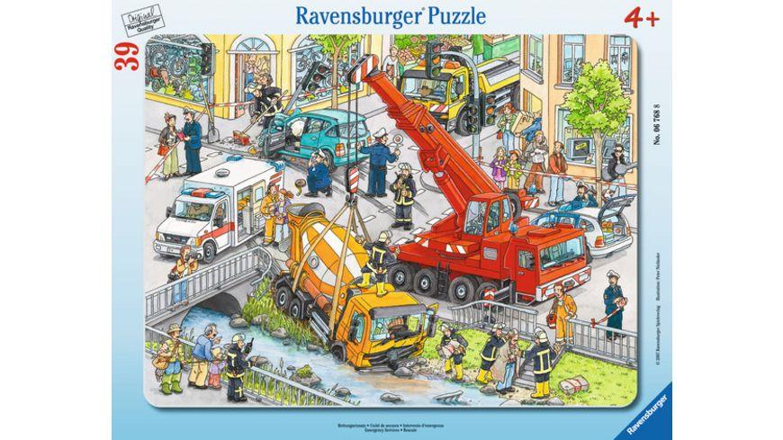 Ravensburger Puzzle Rahmenpuzzle Rettungseinsatz 39 Teile