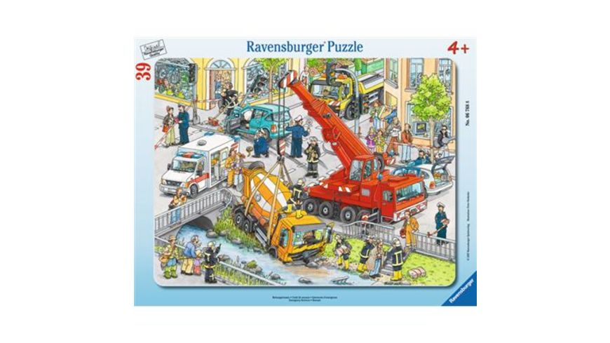 Ravensburger Rahmenpuzzle Rettungseinsatz 39 Teile