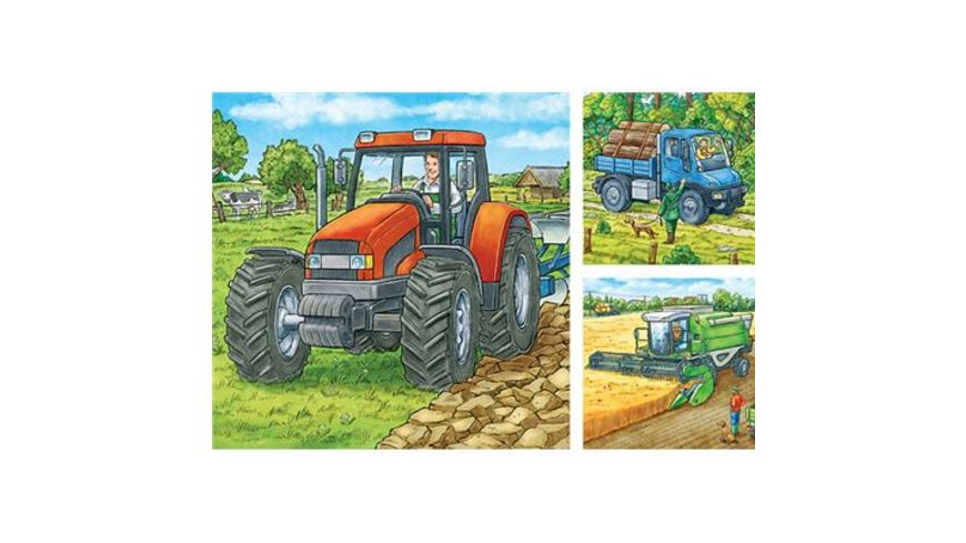 Ravensburger Puzzle Grosse Landmaschinen 3 x 49 Teile