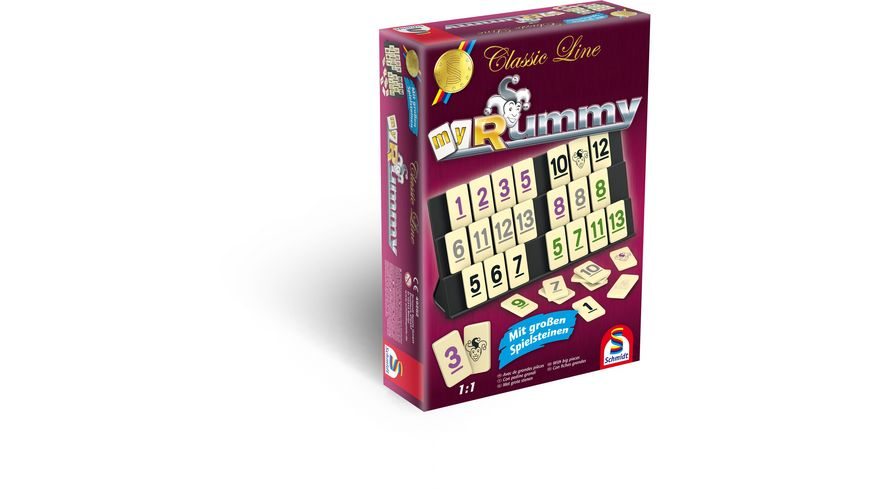 Schmidt Spiele Familienspiele MyRummy Classic Line