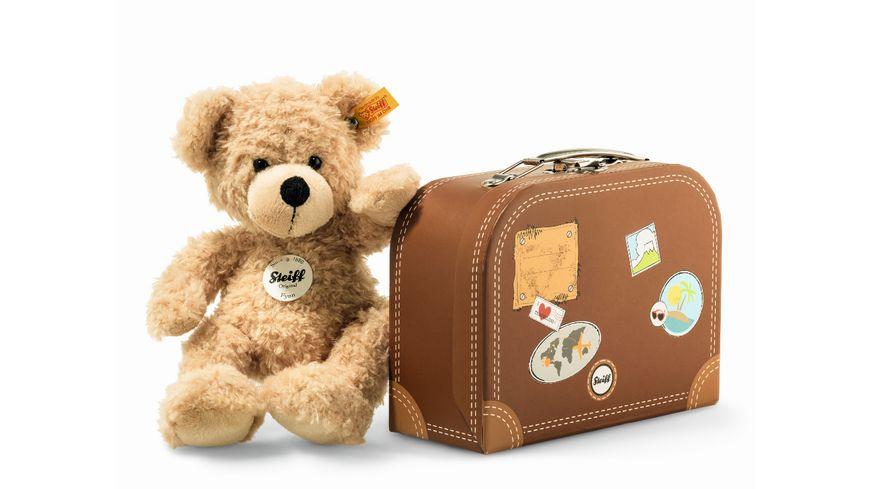 Steiff - Fynn Teddybär im Koffer, beige, 28cm