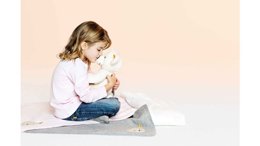 Steiff Teddybaeren Teddybaeren fuer Kinder Lotte Teddybaer weiss 40cm