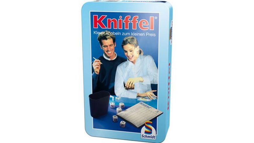 Schmidt Spiele Reisespiele Kniffel in Metalldose