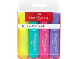 FABER CASTELL Textmarker Textliner 1546 pastell im 4er Etui