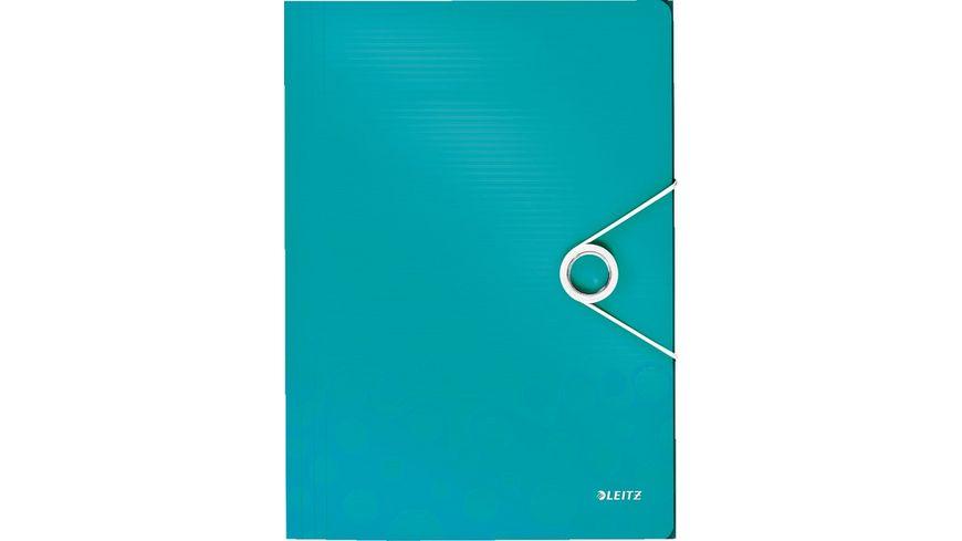 LEITZ Eckspanner Wow A4 eisblau