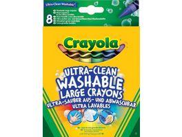 Crayola Ultra Clean abwaschbare Wachsmalstifte 8 er Pack