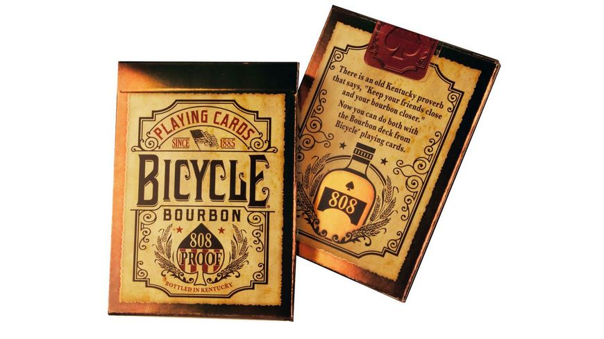 Bicycle Poker Kartendeck Bourbon