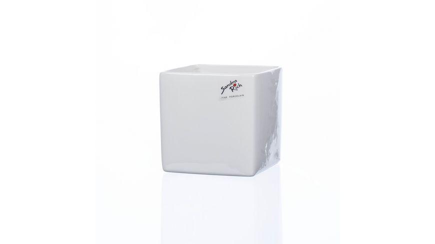 Sandra Rich Porzellan Vase Cube 12 cm