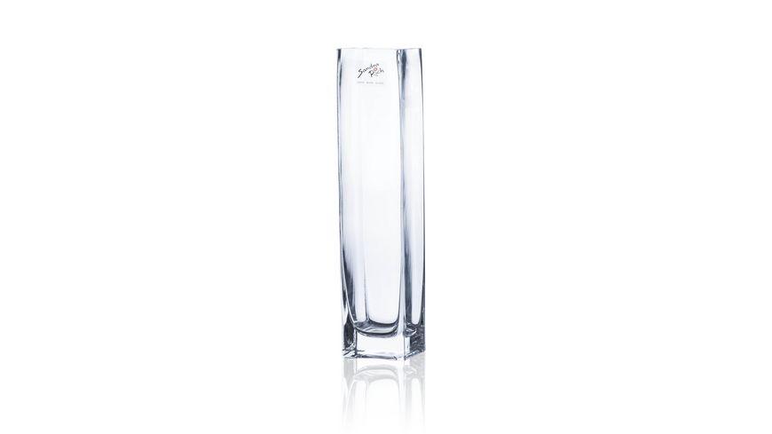 Sandra Rich Glas Vase Square quadratisch 25 cm
