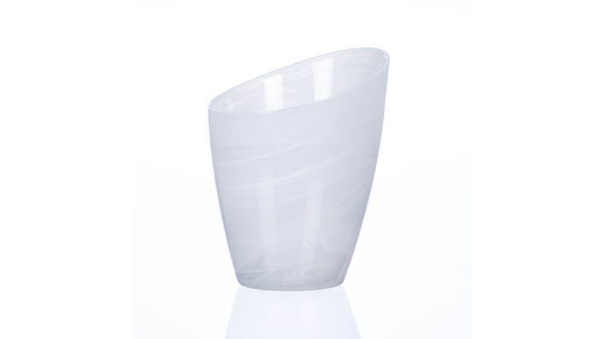 Sandra Rich Glas Vase Alabaster 15 cm