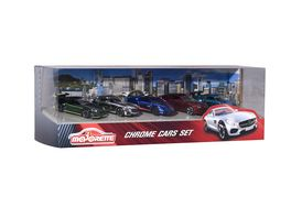 Majorette Premium Series Chrome Cars 5 er Set