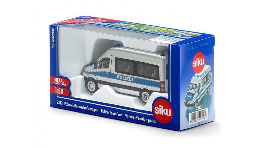 SIKU 2313 Super Polizei Mannschaftswagen